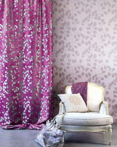 dekorative vorhänge lebhafte farben altmodisch sessel bequem