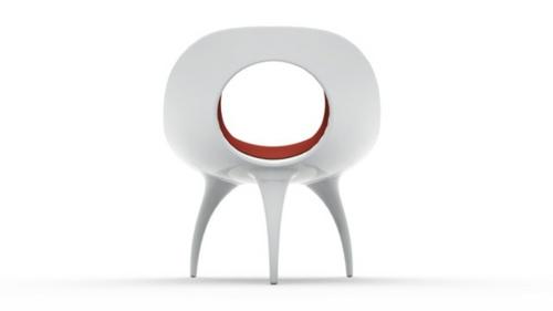 der qi dian stuhl von benoit lienart rot weiß bequem originell