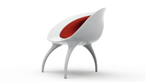 der qi dian stuhl von benoit lienart rot weiß design modell