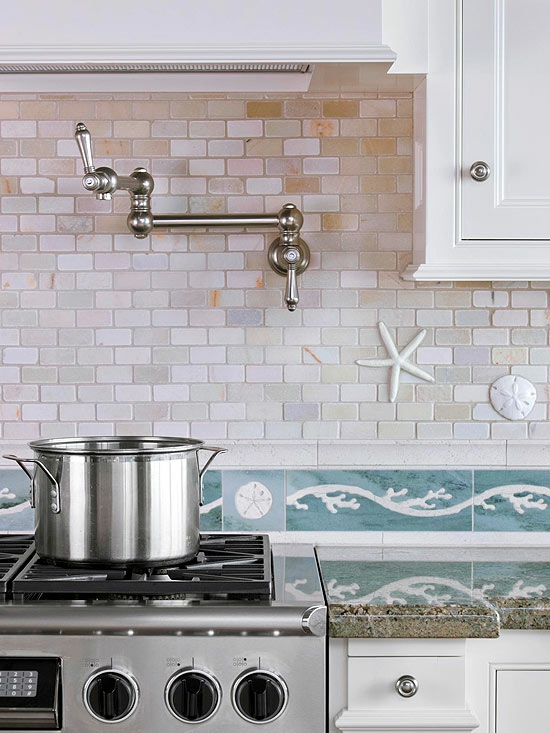 die küche komplett umstylen deko elemente seesterne ozean