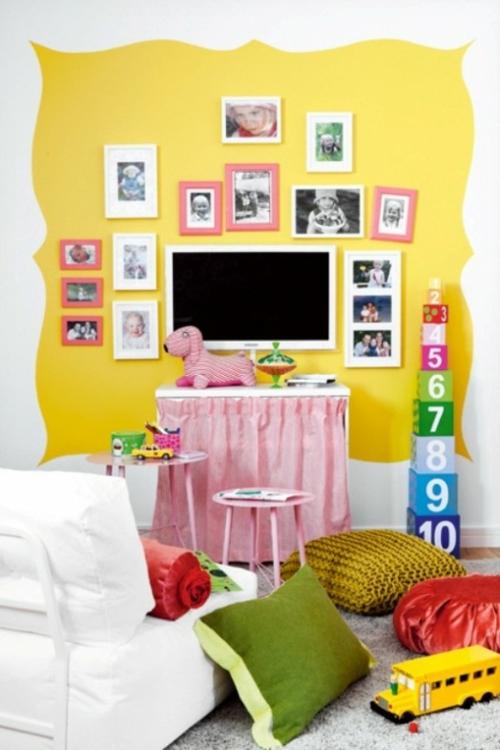 dominierend gelb fröhlich farbe spielzimmer haus wohnung
