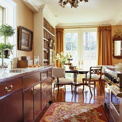 dunkel elegant küchenschränke idee kompakt essbereich teppich floral muster