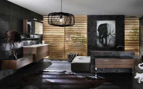 33 dunkle badezimmer design ideen. Black Bedroom Furniture Sets. Home Design Ideas