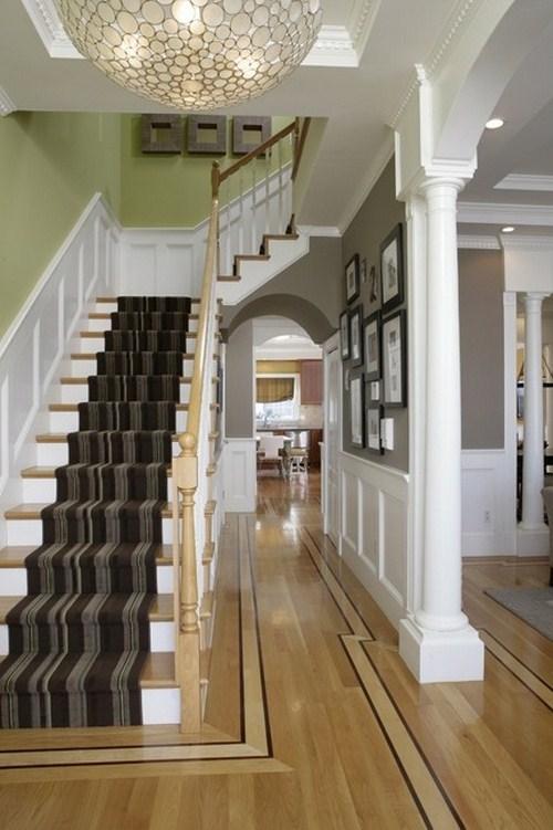dunkler treppen vorleger design haus dekor
