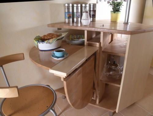 eckig klapptisch im küchenbereich interessant praktisch idee