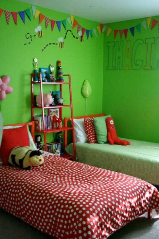 Maison Contemporaine Bois Montpellier : Grüne Kinderzimmer Interieurs, die inspirierend wirken  grellgrün