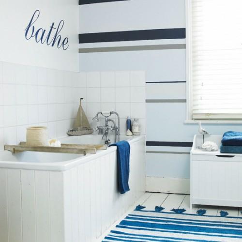 12 weitere ideen f r attraktive wanddekoration mit streifen for Badezimmer wanddekoration