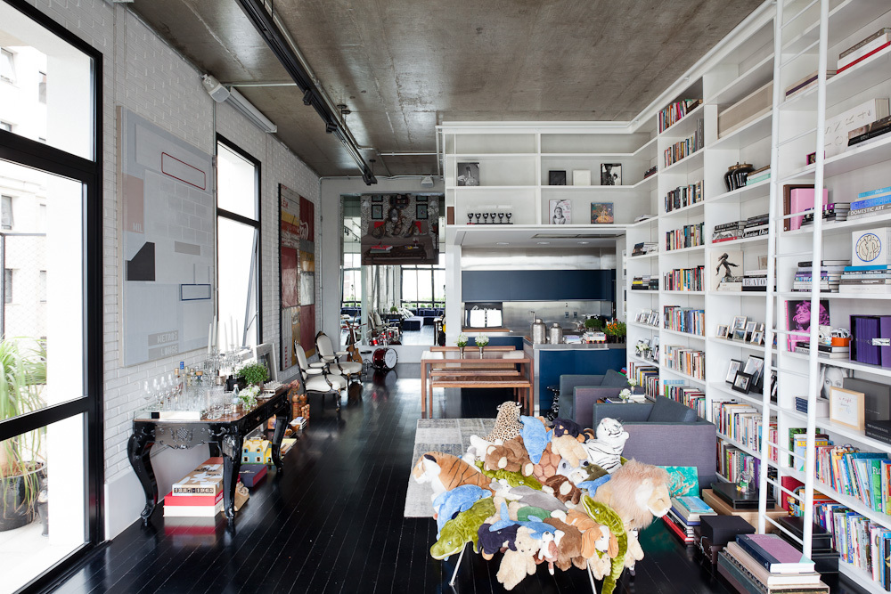 bücherregale plüschtiere design idee modern interieur