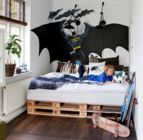 eklektische babyzimmer interieur ideen batman