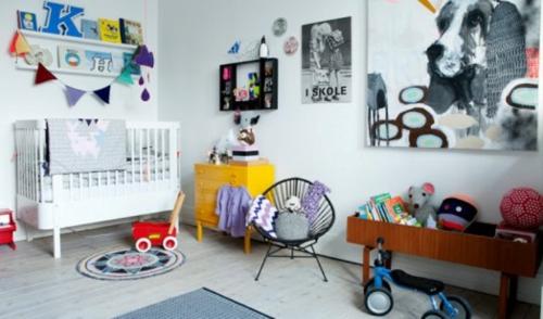 eklektische babyrzimmer interieur ideen