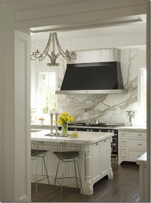 elegant küchenspiegel idee  design weiß