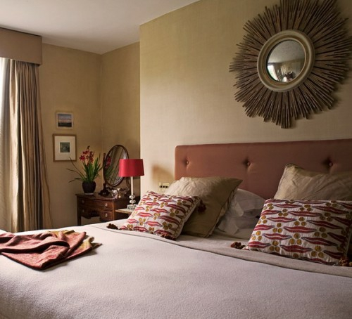 englische schlafzimme design ideen grasgrün wand