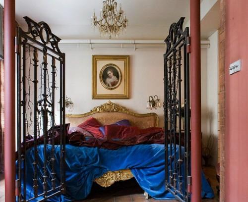 englische schlafzimmer interieur ideen bunt