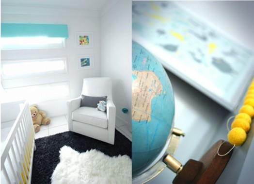 erdkugel globus dekoration idee babyzimmer einrichtung