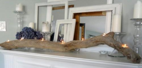 Deko wohnzimmer kerzen  20 originelle Deko-Ideen mit erstaunlichem Treibholz für Ihr Zuhause