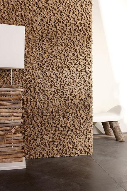 erstaunlichem Treibholz Wände Hocker dunkel Fußboden