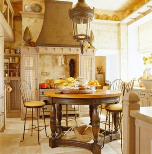 essbereich essmöbel wandregale geschirr gelb farben Küchen Grundrisse