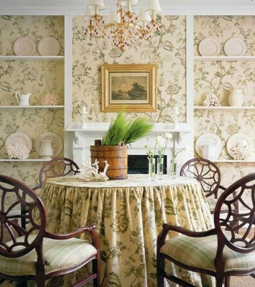 Interieur Ideen im französischen Landhausstil porzellan stilvolle ...