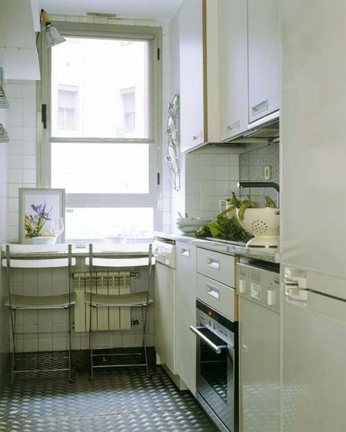 esstisch kleine küche kompakt praktisch weiß