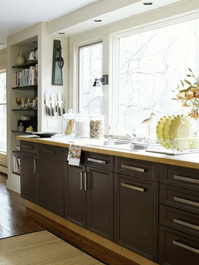 schmale kchen interieurs 16 praktische vorschlge - Dunkle Kche