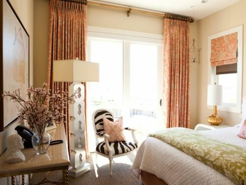 unglaubliche  lachsfarben ausstattung ideen gardinen schlafzimmer