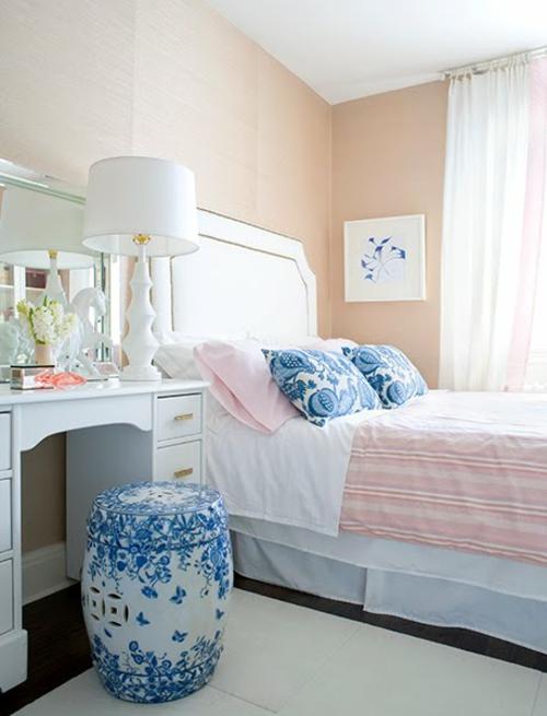 unglaubliche lachsfarben ausstattung ideen schlafzimmer blass nuancen