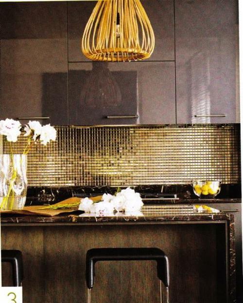extravagant modern luxus küchenspiegel idee