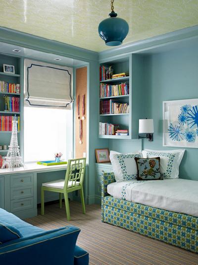 arbeitsplatz im wohnzimmer oder schlafzimmer:fantastische Decke ...