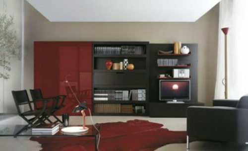 Beautiful Wohnzimmer Schwarz Grau Rot Gallery - House Design Ideas ...
