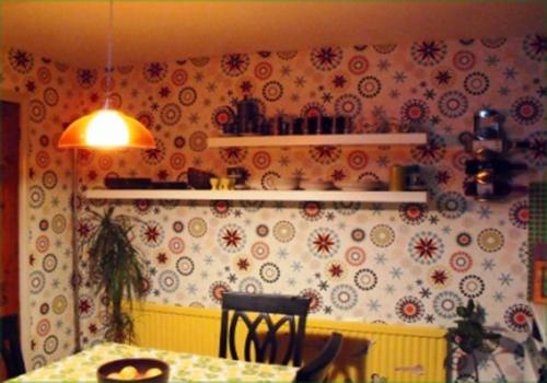 fröhliche idee Tapeten im Küchenbereich design bunt