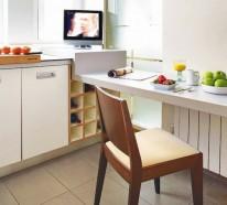 Fernseher Küche   Kompakte Fruhstuckstische In Der Kuche 10 Praktische Interieur Ideen