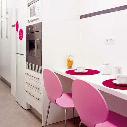 kompakte Frühstückstische plastik stühle rosa