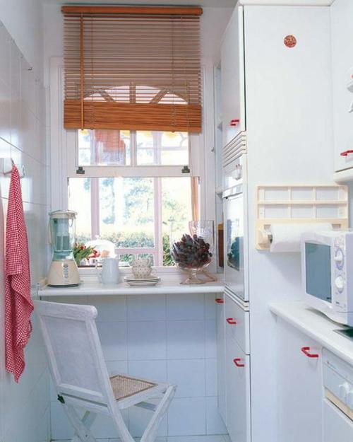 kompakte Frühstückstische weiß ausstattung küche design