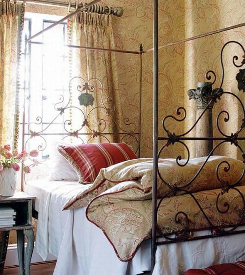 französischen landhausstil schlafzimmer idee klassisch originell