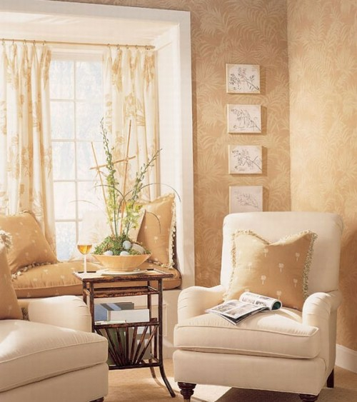 französischen landhausstil wohnzimmer idee sonnenlicht