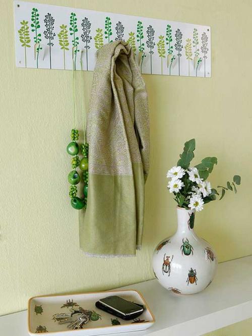 Dekoration Im Flur : frische dekoration im flur frühling floral aufhänger idee vase