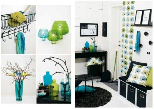 Dekoration Im Flur : frische dekoration im flur frühling grüne nuancen schwarz weich