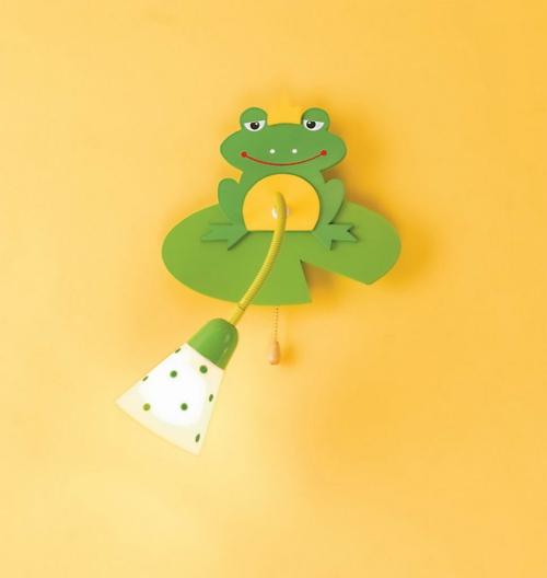frog Wandlampen im Kinderzimmer grün gelb wand
