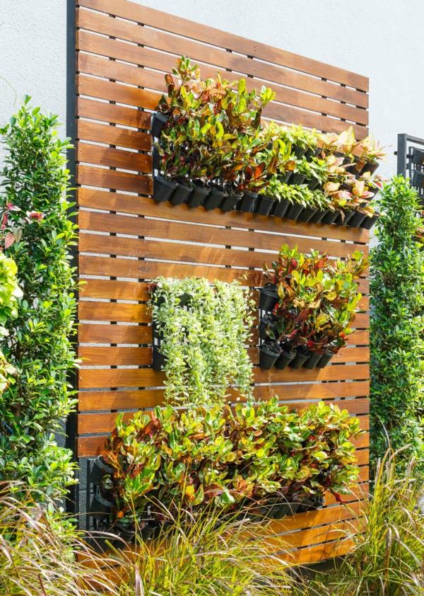 garten ideen gartengestaltung vertikaler garten diy kletterpflanzen