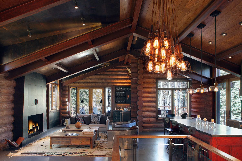 gebirge winter gemuetlich design wohnbereich