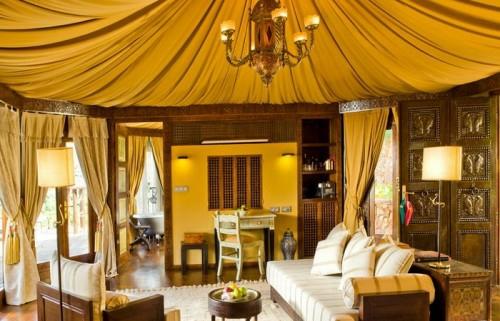 Gelb Farbe Typisch Orientalisch Idee Design