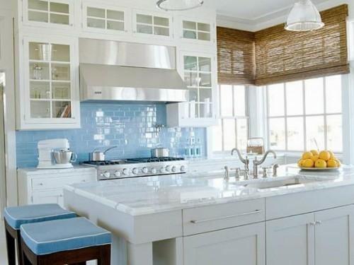 gemütlich weiß kreative Küchenspiegel Ideen küchenarbeitsplatte