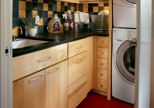 gemütliche kleine Waschküche Küche Interieur Design