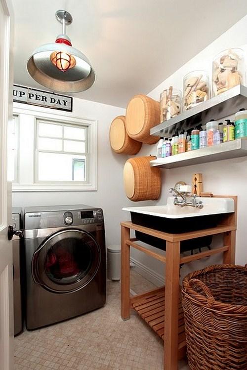 gemütlichen Waschküche innenraum design waschmachine