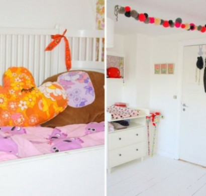 Stilvolle kinderzimmer idee f r zwillingsm dchen in rosa for Idee fur kinderzimmer