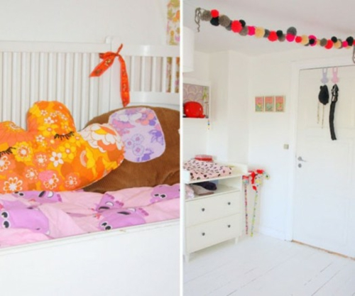 Stilvolle kinderzimmer idee f r zwillingsm dchen in rosa for Weisses kinderzimmer
