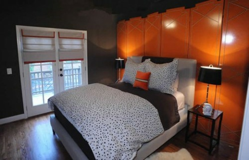 glanzvoll lackiert holz trennwand kopfteil schlafzimmer behaglich idee