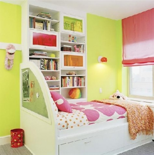 grün gelb wand kinderzimmer design interieur idee
