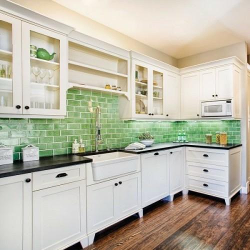 grün küchenspiegel weiß ausstattung design idee