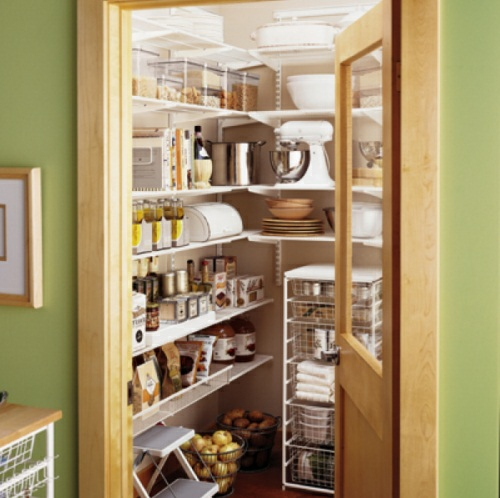 grün wände idee speisekammer küche design